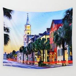 French Quarter at Dawn, Charleston, South Carolina Portrait Wall Tapestry