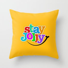 Stay Jolly - Key to Happiness Throw Pillow