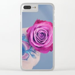 Roses on my mind Clear iPhone Case