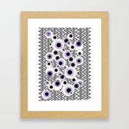 Peekaboo - Purple Framed Art Print