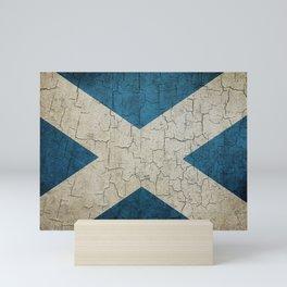 Vintage Scotland flag Mini Art Print