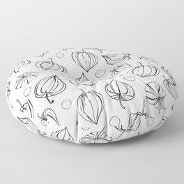 Physalis fruits pattern Floor Pillow