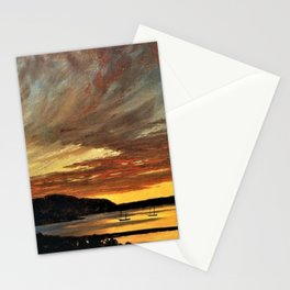 Sunset, Bar Harbor, Maine by Frederic Edwin Church Stationery Cards