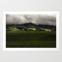 New Zealand Hills  Art Print