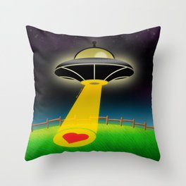 Love Abduction Throw Pillow