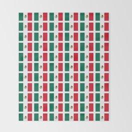 Flag of mexico 2- mexico,mexico city,mexicano,mexicana,latine,peso,spain,Guadalajara,Monterrey Throw Blanket