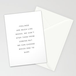 Feelings Like Waves Quote Stationery Cards