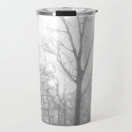 Black and White Forest Illustration Travel Mug