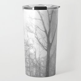 Black and White Forest Illustration Travel Mug