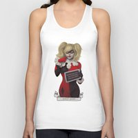 harley Tank Tops featuring Harley quinn by Sara Meseguer