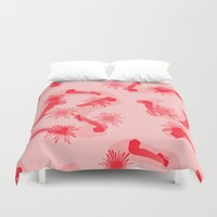 legs Duvet Covers featuring LEGS, LEGS, LEGS by SUPAKID