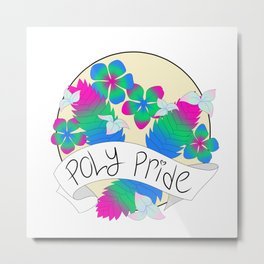 Poly Pride Flowers Metal Print