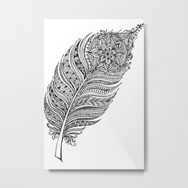 Princess feather Metal Print