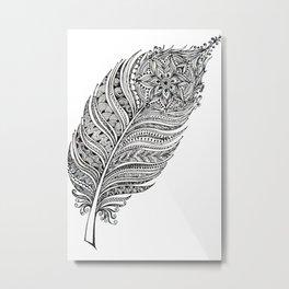 Princess feather Metal Print