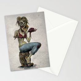 Pinup Zombie Girl Stationery Cards