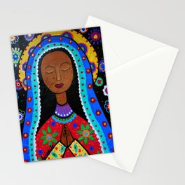 Mexican Folk Art Virgin Guadalupe Painting Stationery Cards