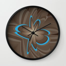 Wood flower 1 Wall Clock
