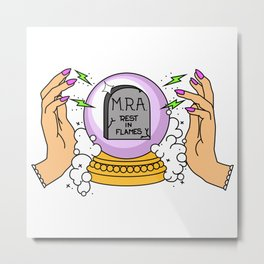 Crystal Ball Feminism Metal Print