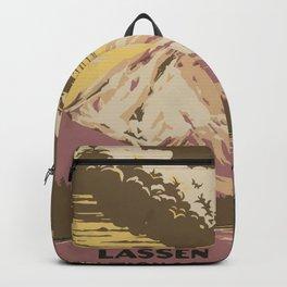 Vintage Lassen Volcanic Poster Backpack