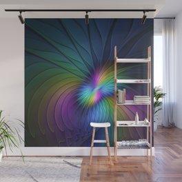 Colorful and Luminous, Abstract Fractals Art Wall Mural