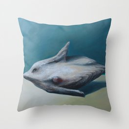 Two steps from the sea Throw Pillow