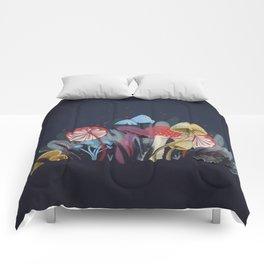 Wild Mushrooms Comforters