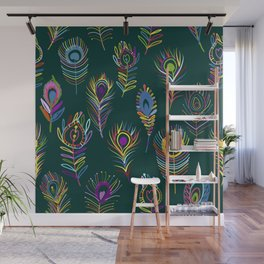 Peacock Feathers Art Wall Mural