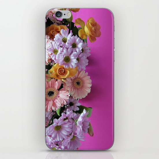 pink 'n flowers iPhone & iPod Skin