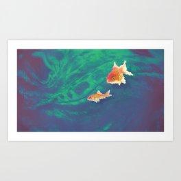 Pixelfish Art Print