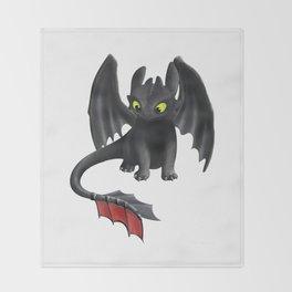 Toothless Dragon Throw Blanket