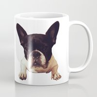 frenchie Mugs featuring Frenchie by lori