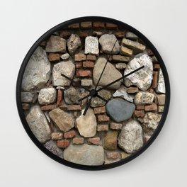 Mediaval Stone Wall Wall Clock