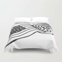 america Duvet Covers featuring America by Helena Olson