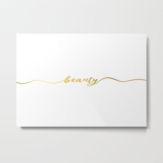 Golden beauty Metal Print