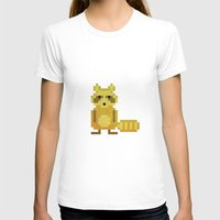 racoon T-shirts featuring Pixel Racoon by Olivier Boisseau