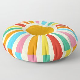 Retro Sunrise: Rainbow Edition Floor Pillow