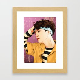BTS SUGA SUMMER FANART Framed Art Print