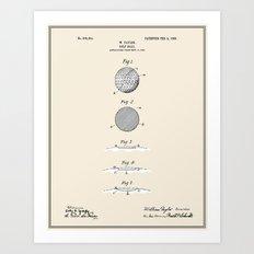 Golf Ball Patent - Colour Art Print