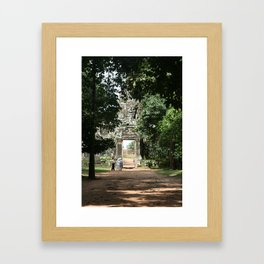 Jungle temple Framed Art Print
