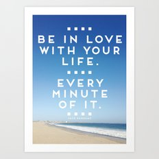 BE IN LOVE. Art Print