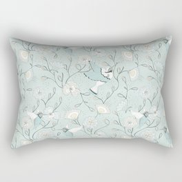 Honey Birds Chinoiserie Floral Rectangular Pillow