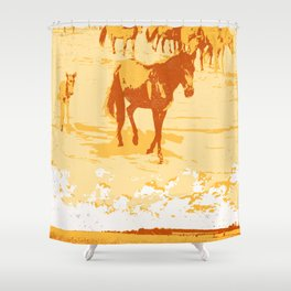 DREAMING HORSES Shower Curtain