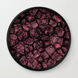Ruby cracked ground Wall Clock