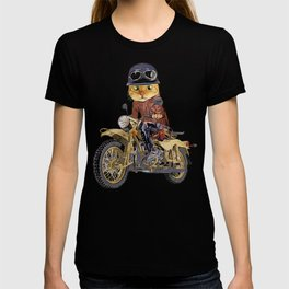 Cat riding motorcycle T-shirt