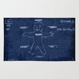 SketchBoy // Blue Rug