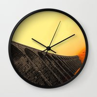 hogwarts Wall Clocks featuring To Hogwarts by thejennii