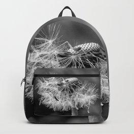 Bokehlicious black & white dandelion Backpack