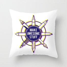 Make awesome stuff Throw Pillow