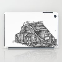 volkswagen iPad Cases featuring Volkswagen Beetle by Akkattoos