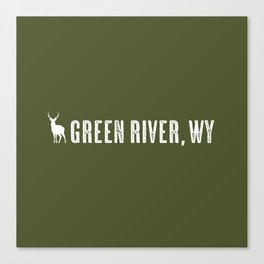 Deer: Green River, Wyoming Canvas Print